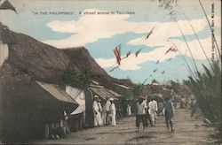 A Street Scene in the Philippines Postcard