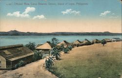 Officers row camp Downes, Ormoc Island of Leyle,Philippines Postcard