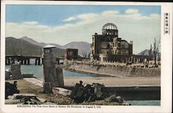 Hiroshima - The first atom bomb in history hit Hiroshima in August 6, 1945 Postcard
