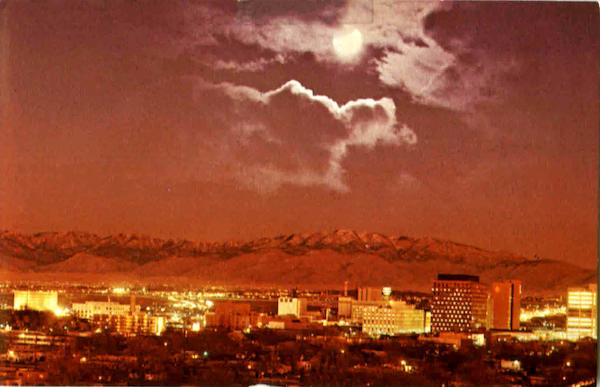 Moonlight view Albuquerque New Mexico