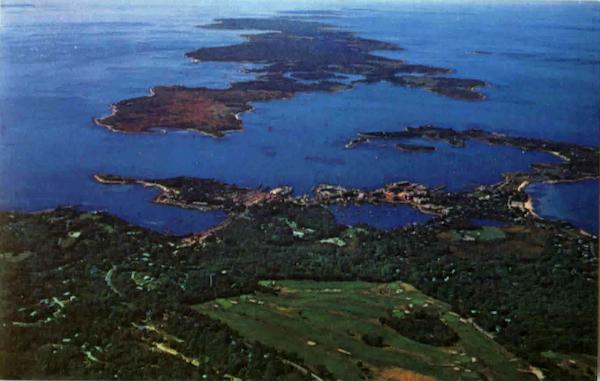 An Aerial View Of Woods Hole Cape Cod Massachusetts