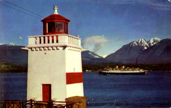 Lighthouse At Brockton Point Vancouver Canada British Columbia