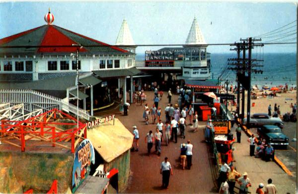 Entrance To The Pier Old Orchard Beach Maine Amusement Parks