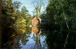 An Old Mill Pond Postcard