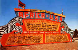 Entrance Gate To Africa U.S.A Postcard