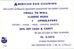 American Rug Cleaning