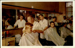 RECRUIT BARBER SHOP FIRST HAIRCUT, United States Naval Trading Center San Diego