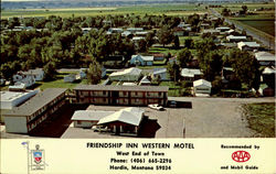 FRIENSHIP INN WESTERN MOTEL, West End of Town Postcard