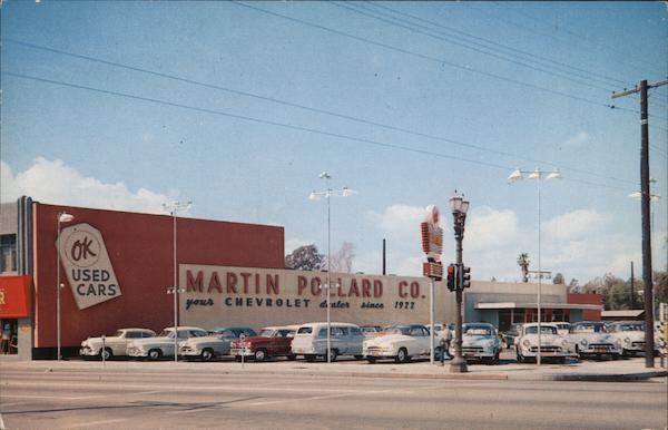 Pollard Used Cars >> Martin Pollard Company Ok Used Cars Hollywood Ca Postcard