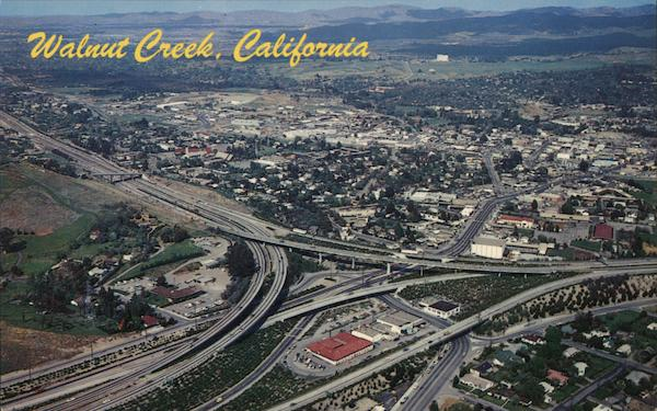 Aerial View Walnut Creek California