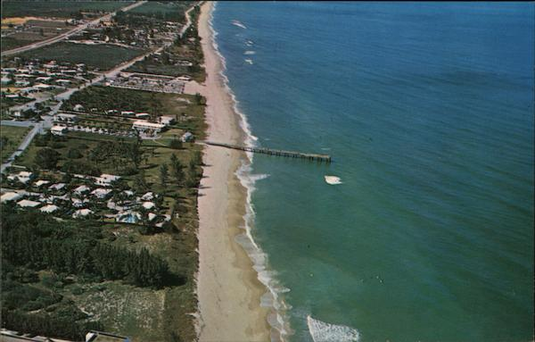 Air View of Juno Beach and Fishing Pier Florida