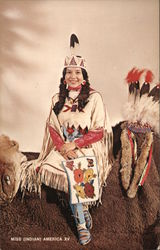 Miss Indian America XV, Miss Thomasine Ruth Hill (Ah-sowa-she-delish) Postcard