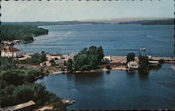 Airview of Long Lake, Reaching Far to the North Postcard