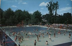 Community Swimming Pool at Supervised Recreation Center Postcard