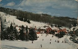 Bromley Ski Area Looking Down From Lord's Prayer Ski Sloped Postcard
