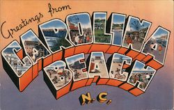 Greetings from Carolina Beach, North Carolina Postcard