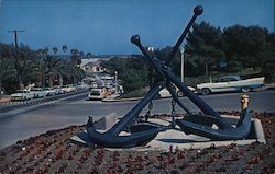 Two Large Anchors Sculpture