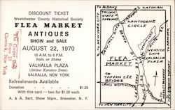 1970 Westchester County Historical Society Flea Market Discount Ticket