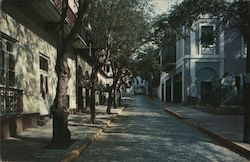 Typical Street Scene, Leading to 'Fortaleza' Postcard