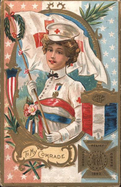 Womans Relief Corps nurse: To my comrade Memorial Day