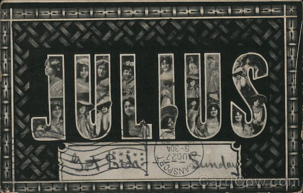 Julius With Women's Faces Faces in Letters