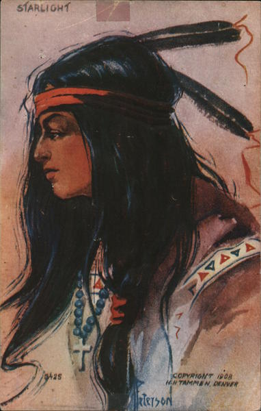 Indian Woman Starlight Native Americana