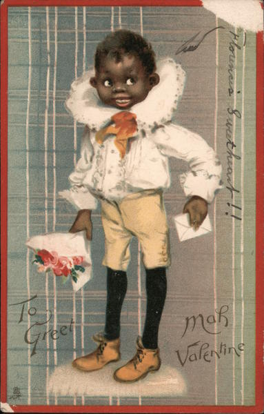 Boy in Ornate Shirt: To Greet Mah Valentine Blacks