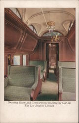 Drawing Room and Compartment in Sleeping Car on The Los Angeles Limited