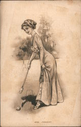 Woman Playing Croquet
