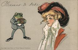 Pleasant to Take - Frog in Your Throat Company Postcard