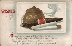 Wishes Tobacco Postcard