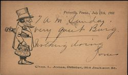 Correspondence Card, Chas. L. Jones, Printer, Pottsville, Penna.