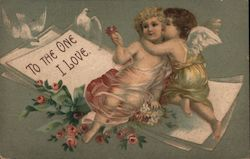 Two Cupids Embracing - To the One I Love