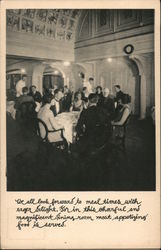 Dining room on board S.S. President Jackson