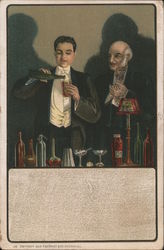 Man Making a Drink Postcard