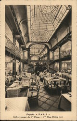 First class dining room on board the Paris