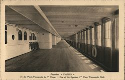 One of the spacious first class promenade decks on board the Paris