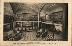 Entrance Hall and Information Office, SS Paquebot, Paris