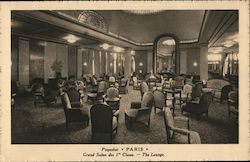 1st class lounge on board the Paris