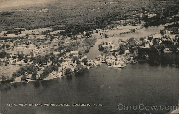 Aerial View of Lake Winnipesaukee Wolfeboro New Hampshire