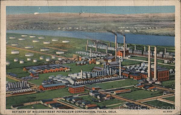 Refinery of Mid-Continent Petroleum Corporation Tulsa Oklahoma