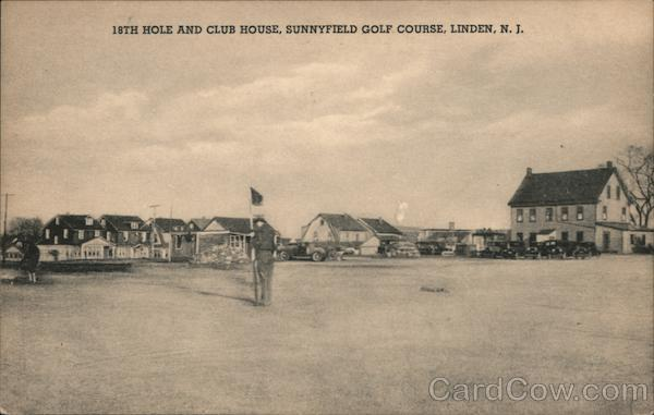 18th Hole and Club House, Sunnyfield Golf Course Linden New Jersey