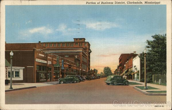 Portion of Business District Clarksdale Mississippi