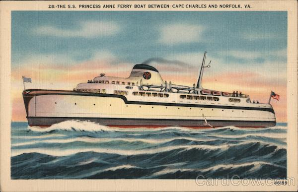 S.S. Princess Anne Ferry Boat Ferries