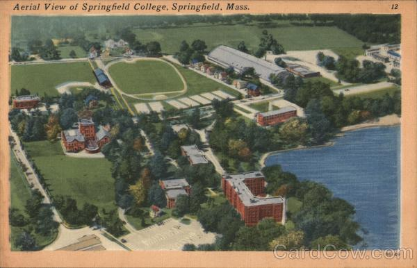 Aerial View of Springfield College Massachusetts