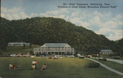 "Hotel Greystone, ""Entrance to Great Smoky Mountains National Park"""