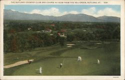 Rutland Country Club and Course, As Seen From the 16th Green Postcard