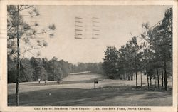 Golf Course, Southern Pines Country Club Postcard