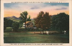 Country Club and 18 Hole Golf Course Postcard