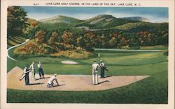 Lake Lure Golf Course, In the Land of the Sky Postcard